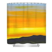 Sierra Foothills Sunrise Shower Curtain