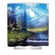 Sierra Mountain Meadow   Shower Curtain