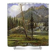 Sierra Nevada Mountains Shower Curtain