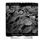 Sierra Nevada's Planer Earth Bw Shower Curtain