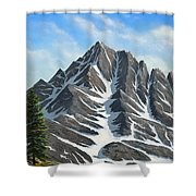 Sierra Peaks Shower Curtain