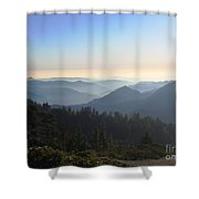 View From Beetle Rock Shower Curtain