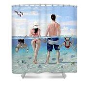 Siesta Beach Resort And Spa Mural Shower Curtain