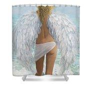 Siesta Key Beach Angel Shower Curtain