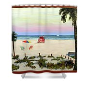 Siesta Key Beach Morning Shower Curtain