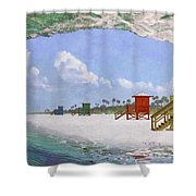Siesta Key Curl Shower Curtain