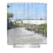 Siesta Key Public Beach Access Shower Curtain