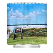 Siesta Key Public Beach Shower Curtain