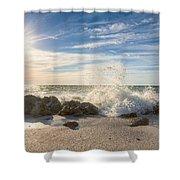 Siesta Key Splash Shower Curtain