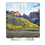 Sievers Peak And Golden Aspens Shower Curtain