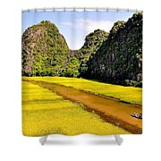 sighseeing on Ngo Dong river Shower Curtain