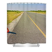 Sign On The Road Shower Curtain