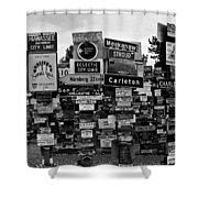 Sign Post Forest Shower Curtain