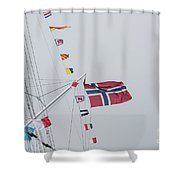 Signal Flags Shower Curtain