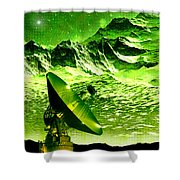 Signal From Space Shower Curtain