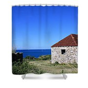 Signal House Radio Station Shower Curtain