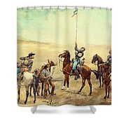 Signaling The Main Command 1885 Shower Curtain