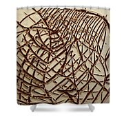 Signs - Tile Shower Curtain