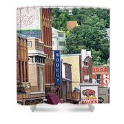 Signs And Historic Buildings Shower Curtain