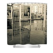 Signs In The Rain Shower Curtain