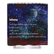 Signs In The Sun Moon Stars Shower Curtain