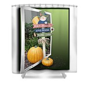 Signs Of Halloween Shower Curtain