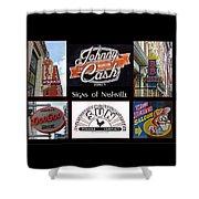 Signs Of Nashville Shower Curtain