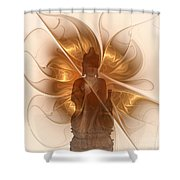 Silence -1- Shower Curtain