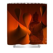 Silence -3- Shower Curtain