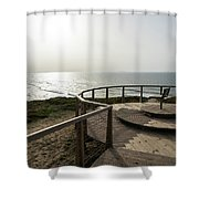 Silence And Solitude - A Special Sunset Throne High Above The Ocean Shower Curtain