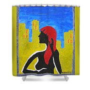 Silence In The City Shower Curtain