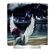 Silence Of An Angel Shower Curtain by Mo T
