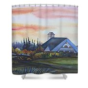 Silence Upon Midnapore Shower Curtain