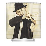 Silent Assassin With Target In Sight Shower Curtain
