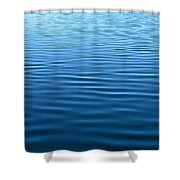 Silent Blue Tranquility Shower Curtain