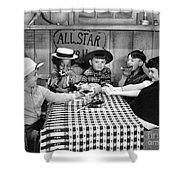 Silent Film: Little Rascals Shower Curtain