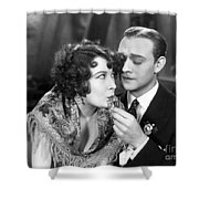 Silent Film Still: Drinking Shower Curtain