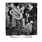 Silent Film Still: Music Shower Curtain