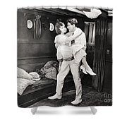 Silent Film Still: Ships Shower Curtain