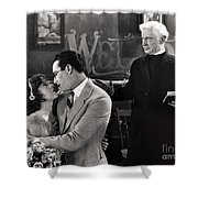 Silent Film Still: Wedding Shower Curtain