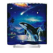 Silent Journey Christian Riese Lassen Shower Curtain