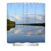 Silent Lake Shower Curtain