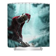 Silent Night Unholy Night Shower Curtain