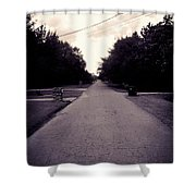 Silent Road Shower Curtain
