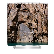 Silent Rocks Shower Curtain