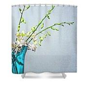 Silent Stems Shower Curtain