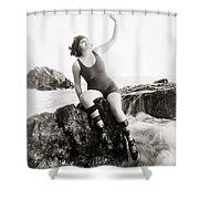 Silent Still: Bather Shower Curtain