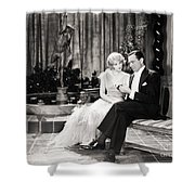 Silent Still: Couples Shower Curtain