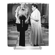 Silent Still: Weight Shower Curtain