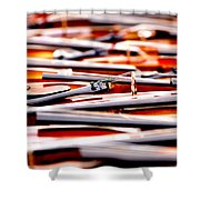 Too Much Violins In Film Shower Curtain